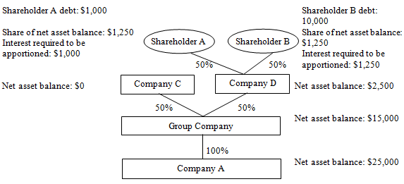 Example - non-corporate shareholders